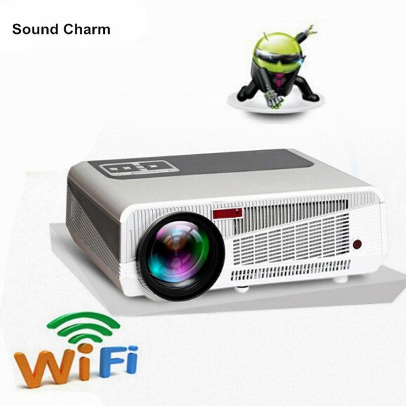 5500 lúmenes smart Android 4,4 tv lcd led proyector soporte full hd 1080 P 3d de cine en casa digital video proyector beamer