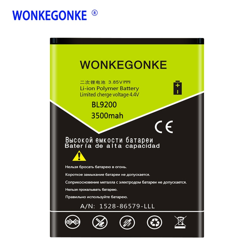 WONKEGONKE for FLY FS504 Battery BL9200 for FLY Cirrus 2 FS504 High Quality Batteries