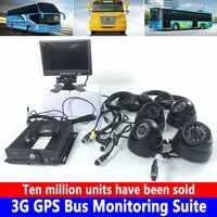 4 channel sd card 960p hd pixel recorder remote video monitoring host 3g gps bus monitoring kit box truck passenger car