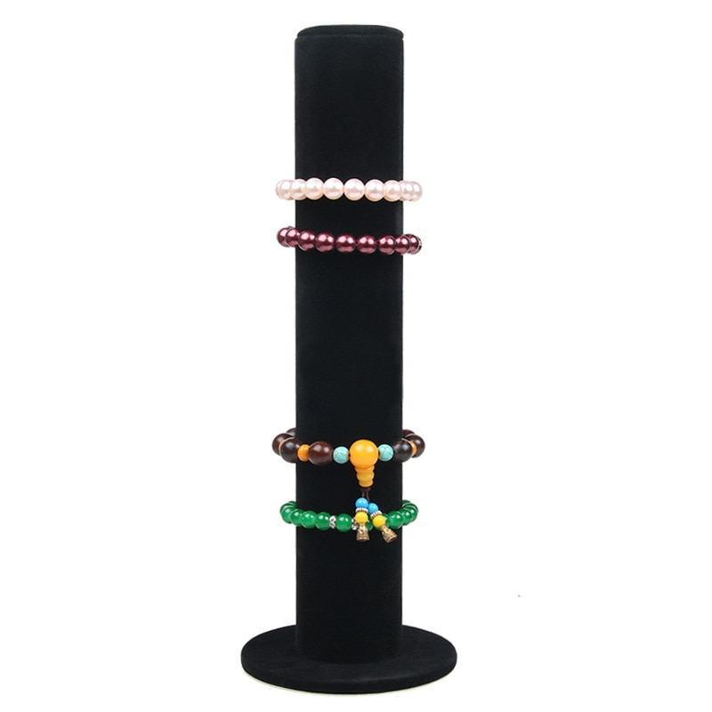 Velvet Leather Jewelry Display Stand Holder Rack for Bracelet Watch Jewelry Soft to Touch Jewelry Stand Organizer Fashion fashion jewelry display black velvet leather t bar jewelry rack organizer hard stand holder for bracelet chain necklace watch