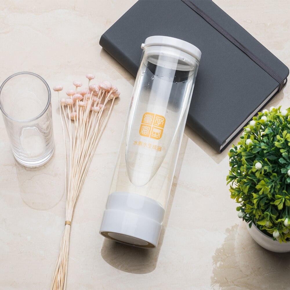IHOOOH Maker 500ML recargable portátil agua ionizador botella Super Antioxidan hidrógeno-rico generador taza de agua