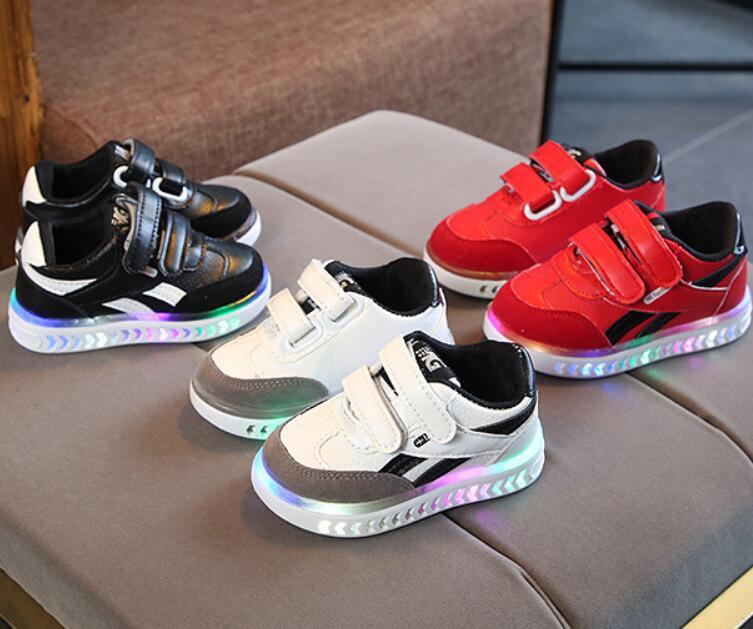 Tênis esportivos infantis led, tênis respiráveis para crianças, meninos, meninas, corrida com luz tamanho 21-30 botas, botas