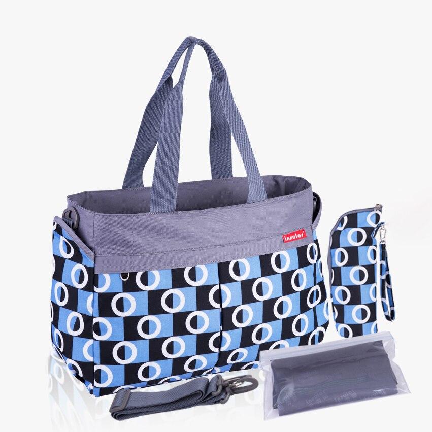 2019 nuevo multicolor Dot madre de maternidad las bolsas de pañales de bebé pañal cambiando cochecito bolsas mamá Bolso grande bolsa de pañales de mamá