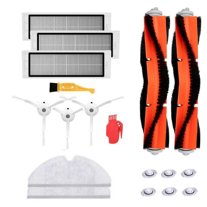 18PCS/set Home Vacuum Cleaners Brushes Filter Parts Replacement for Xiaomi Mi Robot Roborock s50 s51 Roborock 2 Vacuum Cleaner