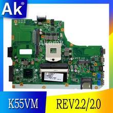 AK K55VJ carte mère dordinateur portable pour ASUS K55V K55VJ carte mère REV2.2/2.0 Support Geforce GT635 2G 100% testé
