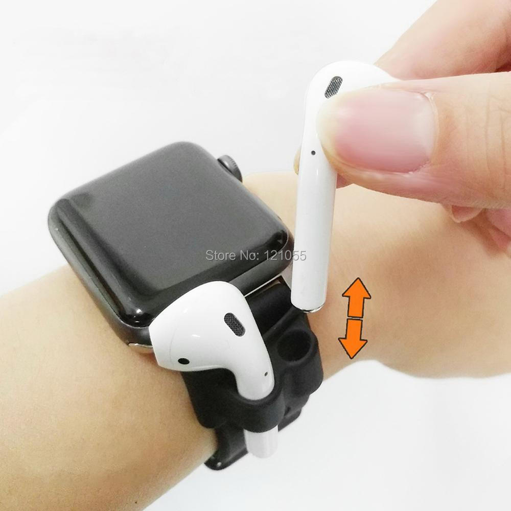 AirPods Holder for Apple wireless earphone case for Apple watch band clip sport headphone hook Anti-lost Accessory 10pcs/LOT enlarge