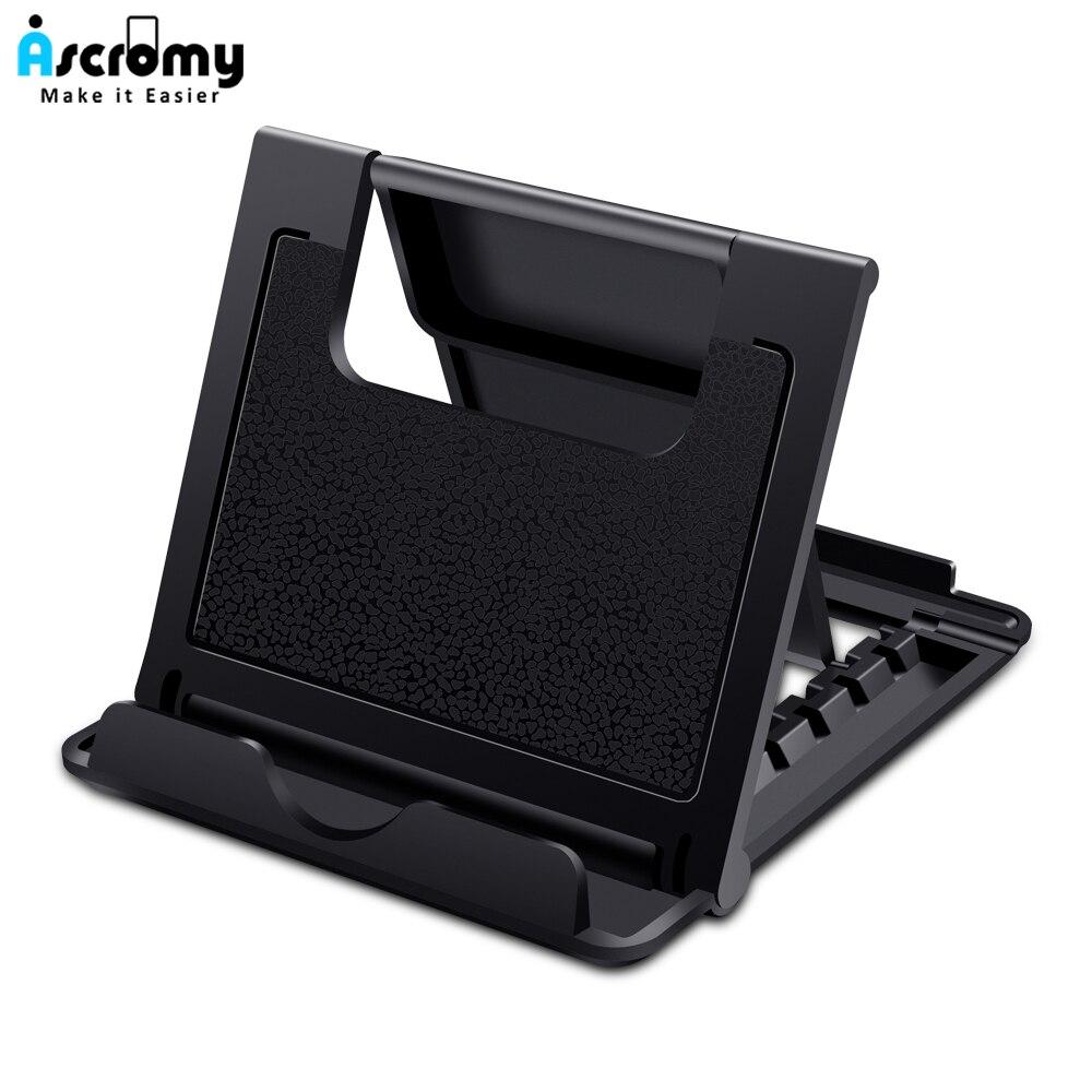 Ascromy soporte Universal plegable para tableta para iPad Mini Pro Samsung Tab Nintendo Switch iPhone X 8 LG soporte para teléfono móvil de escritorio
