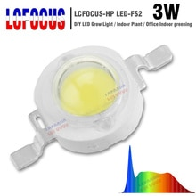 La puissance élevée 1 W 3 W 5 W LED élèvent la Diode de SMD de lépi 380-840Nm de spectre complet de 45mil pour les fleurs dintérieur de Fruit de légumes dusine grandissant