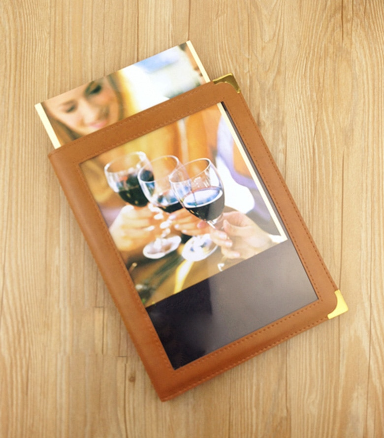 Menú de 16 páginas A4/8 hojas Tarjeta de vino de estilo europeo y americano