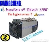 KUANGCHENG Innosilicon A9 ZMaster 50k sol/s Equihash miner Zcash ZCL ZEC BTG Mining machine Better than antminer Z9