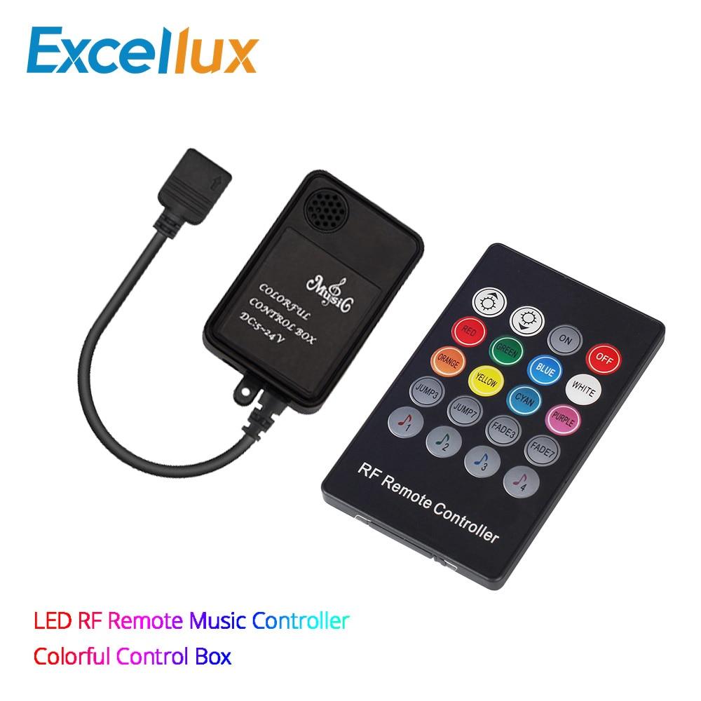 20 клавиш, светодиодный музыкальный контроллер, Радиочастотный пульт дистанционного управления, светодиодный звуковой датчик, беспроводно...