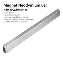 Bloc cuboïde néodyme 100x10x5mm   Barre longue, aimant Permanent, terre Rare Super forte, N50 1 pièce