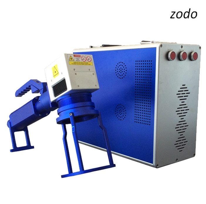 30w raycus Máquina de marcado láser de fibra de metal portátil, máquina cortadora láser de fibra tipo mango 30w