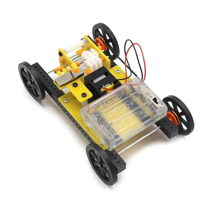 DIY Kit de cambio de marchas de coche Kit de tres velocidades de ajuste de transmisión mecánica modelo Suite electrónica DIY juguetes hechos a mano