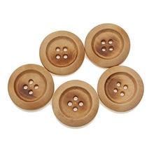 Boutons beiges ronds en bois 30 pièces 25mm   Pour vêtements, boutons en bois pour Scrapbooking, artisanat décoratif, accessoires de bricolage