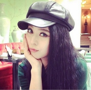 2021 Hot Sale High quality PU Leather women beret hat Cap girls Beret autumn and winter british style freeshipping