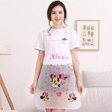 1pc bonito dos desenhos animados princesa avental jingle gato mickey meia transparente avental impermeável cozinha anti-óleo sem mangas avental