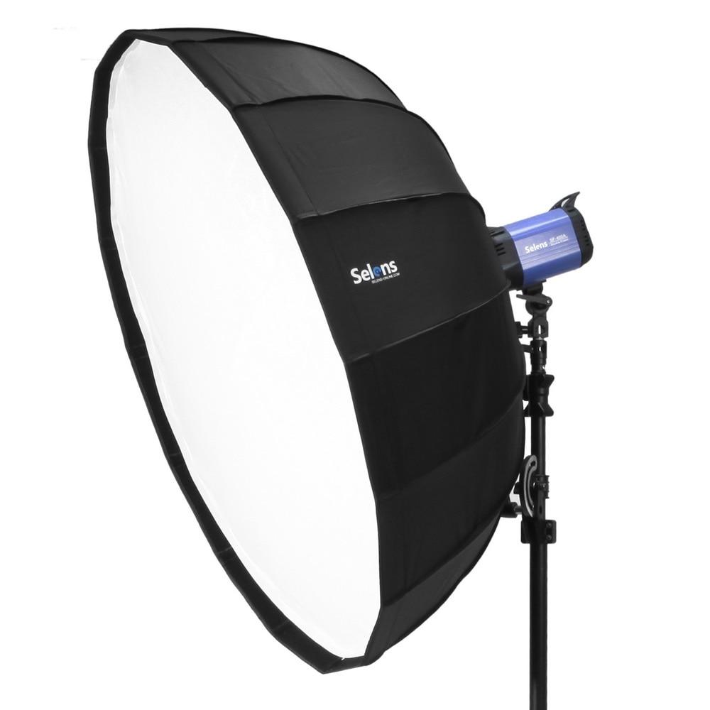 Selens 105cm White Foldable Beauty Dish Softbox with Bowens Mount for Studio Lighting Off-camera Flash Fotografia Light Box