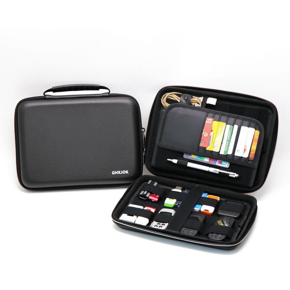 Portable Hard Drive Case Bag Waterproof Shockproof Electronic Accessories Organizer Holder / USB Flash Drive Case Bag / Black