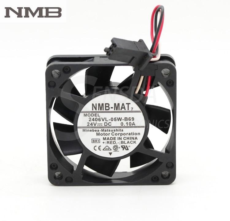 For NMB 2406VL-05W-B69 24V 0.10A 6015 60mm 6cm 60*60*15 mm waterproof fan