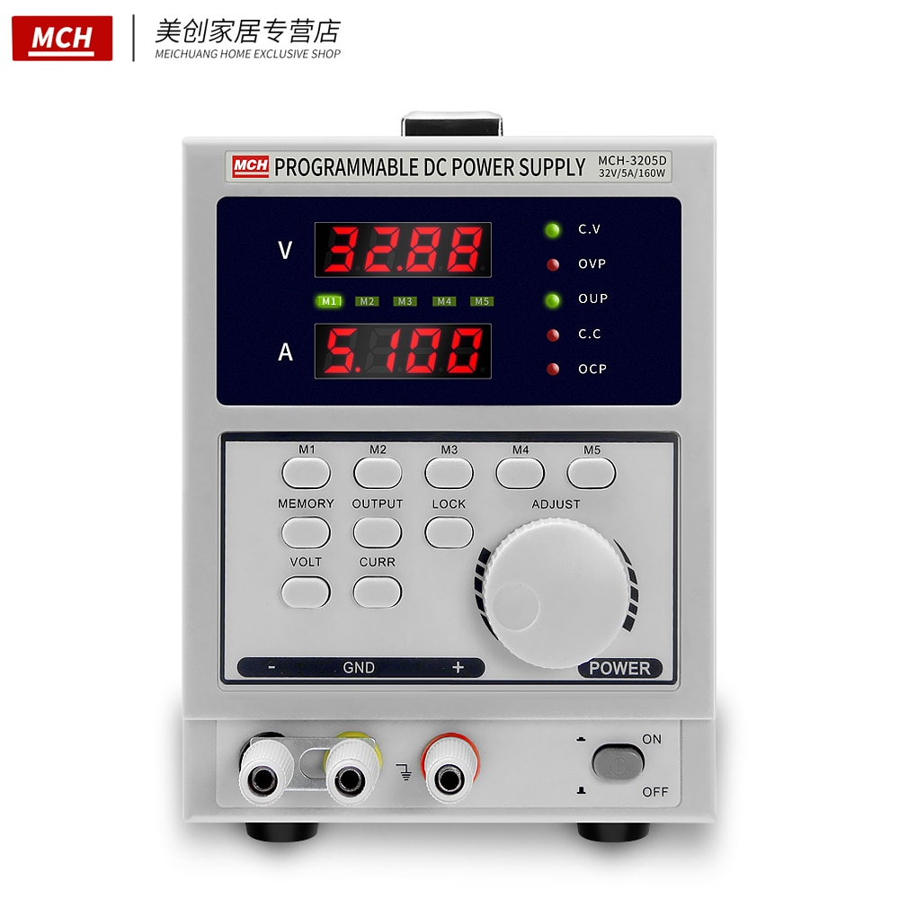 Программируемый Регулятор напряжения постоянного тока 32 в 5 А, цифровой программируемый четырехзначный дисплей, технические блоки питания ...