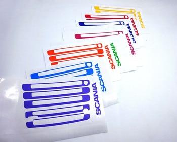 Novo scania grelhar cores do logotipo adesivo etiqueta/decalques para tamiya 1/14th escala rc actros scania reboque do trator caminhão