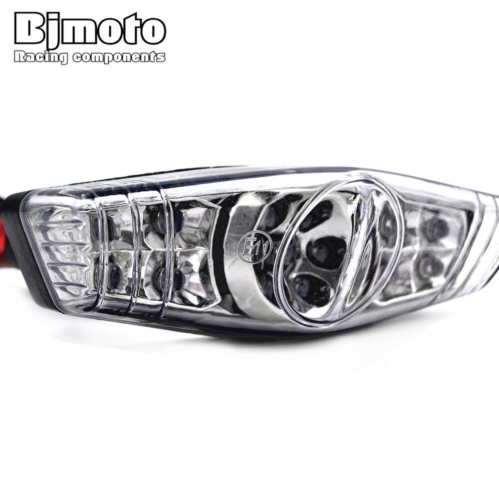 LPL-052 claro, 12V, 2W, Emark, montura de placa de matrícula, freno trasero, luz LED, Motocross, luces de freno, luces traseras