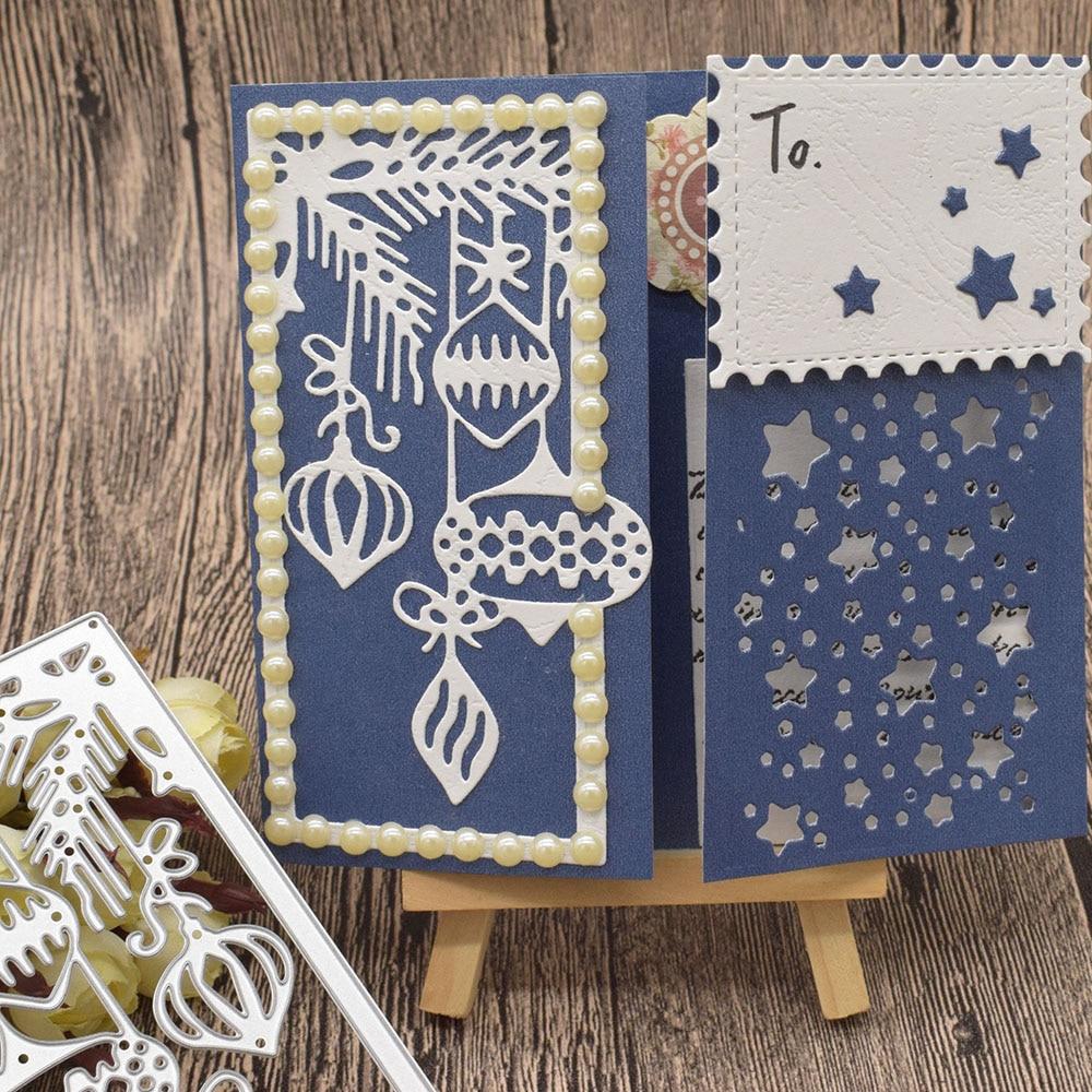 Star Frame Metal Cutting Dies For Scrapbooking DIY Paper Card Album Decoration Embossing Template Craft Dies