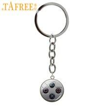 TAFREE خمر الفيديو أذرع التحكم في ألعاب الفيديو سلسلة مفاتيح كول الرجال الألعاب مجوهرات ريترو تحكم غمبد مفتاح صورة المفاتيح T734