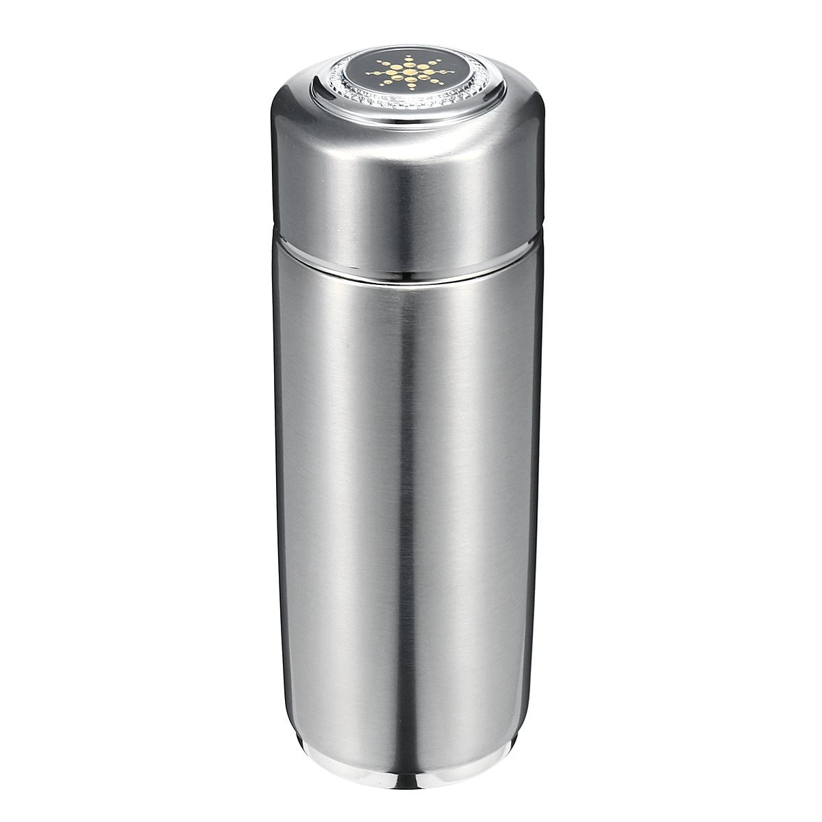 De acero inoxidable de 400ml cuántica alcalina agua filtrada taza equilibrio Bio energía Nanos ionizador de matraz botella electrolítico de la Copa de la energía