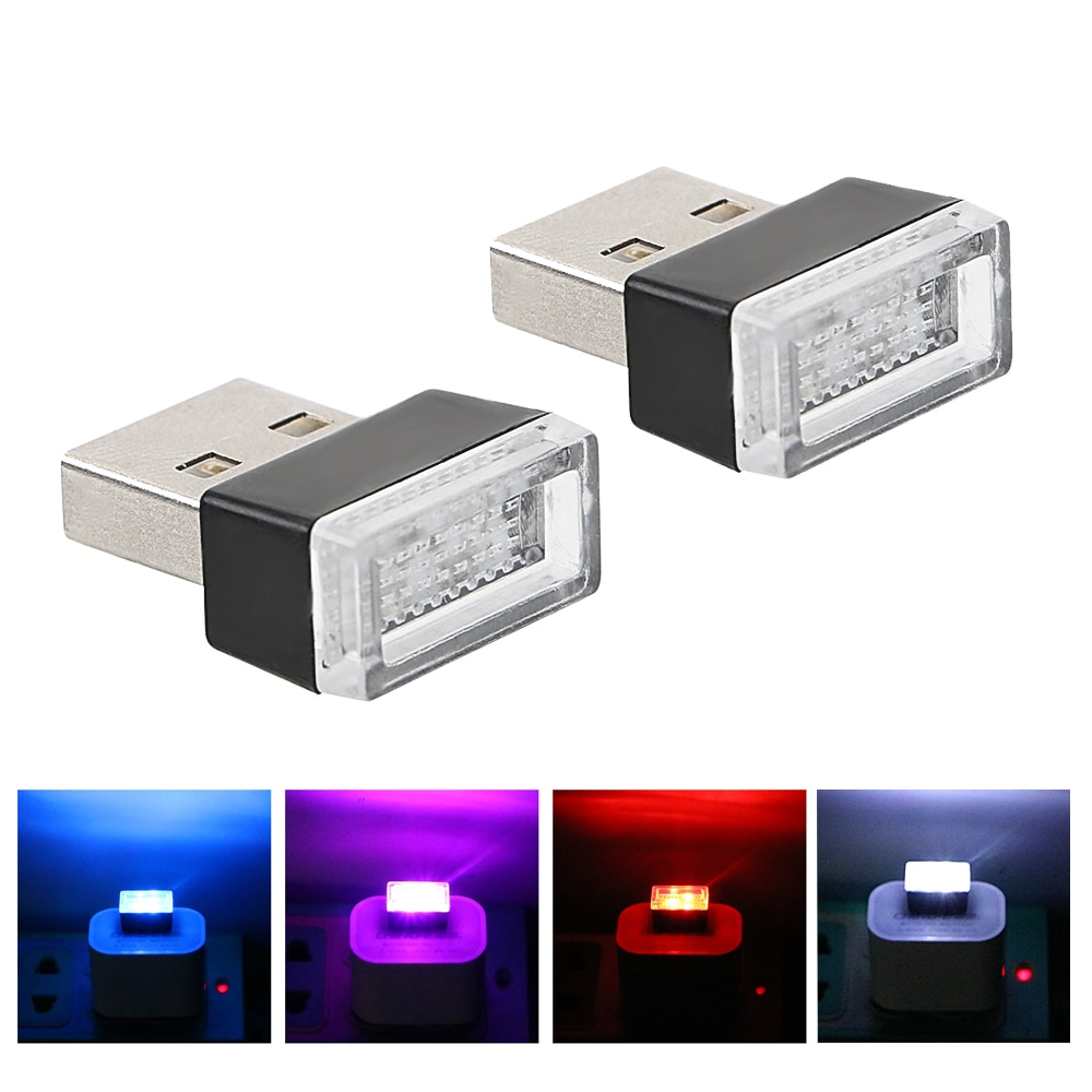 2x Car LED USB Lâmpada Atmosfera Luzes Decorativas Para Mazda 3 6 Spoilers CX-5 CX 5 CX7 CX-7 CX3 CX5 626 M3 M5 Atenza