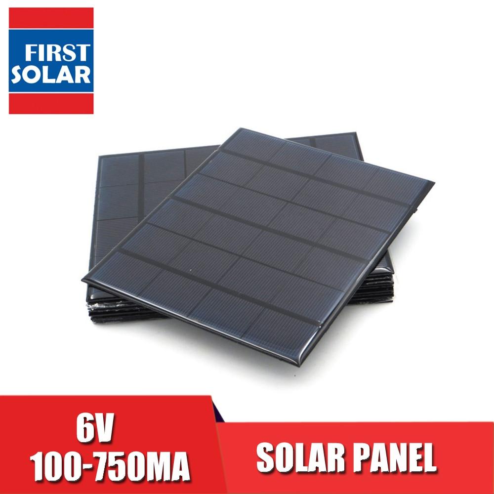 Солнечная панель постоянного тока Sunpower 6V 100mA 167mA 183mA 333mA 500mA 583mA 750mA элемент для солнечной батареи портативное зарядное устройство для телефона