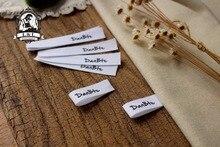 Étiquettes à coudre personnalisées   Étiquettes pour vêtements, étiquette en ruban de coton (MD14)