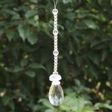 Feng shui 50mm crystal pendants&14mm octagon beads healing crystals suncatcher wedding decoration,crystal chandelier parts N37