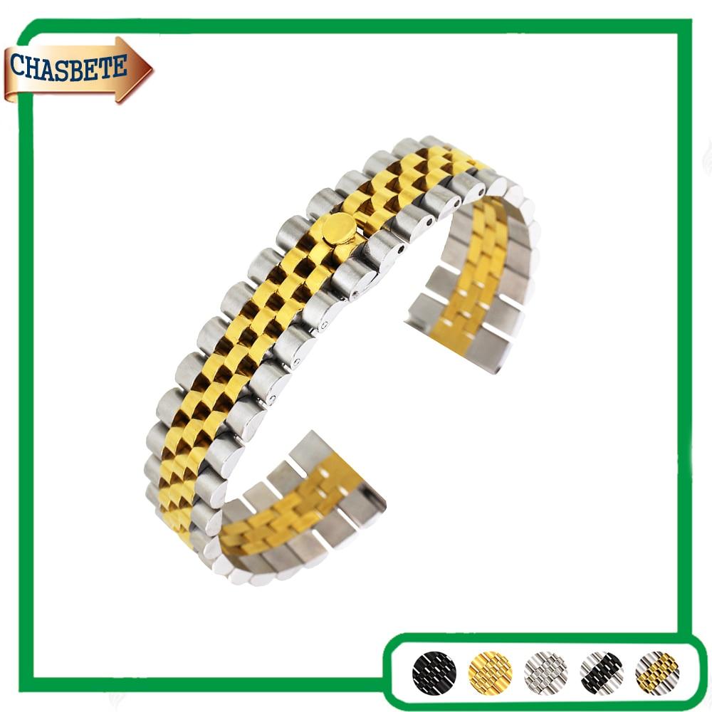 Edelstahl Uhrenarmband für Montblanc Armband 18mm 20mm 22mm Männer Frauen Metall Bügelgurt Handgelenk Schleife armband Schwarz Silber