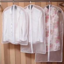 Urijk Wardrobe Storage Bags Transparent Dress Clothes Coat Garment Suit Cover Case Dustproof Covers Home Zipper