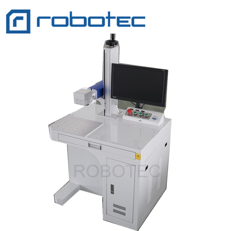 High precision 3D mini fiber laser marking machine , portable Metal Laser Printing Machine for plastic , stone
