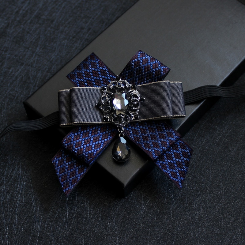 High quality men's hand-made polyester bow tie Exquisite diamond suit shirt wedding bow tie Gift bow tie for bride and groom