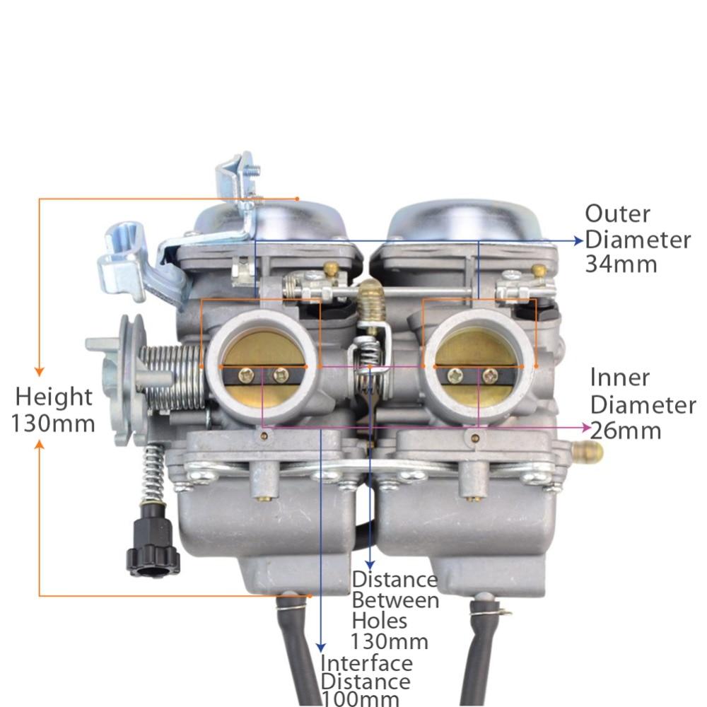 Carburador doble GOOFIT para cámara Honda 250cc Rebel CMX 250cc CMX250 CA250 N090-050