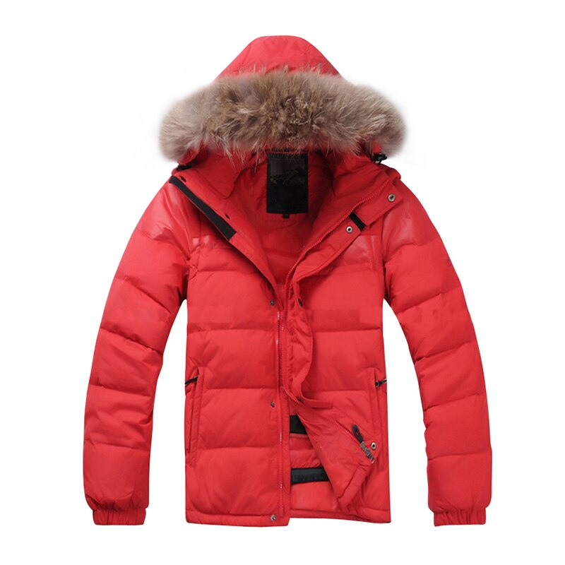 2021 new winter men down jacket warm down coats white duck down real raccoon fur hooded down jackets outwear winter men coats 2021 New Winter Men Down Jacket White Duck Down Real Raccoon Fur Sleeves Detachable Hooded Down Jackets Coats Free Shipping