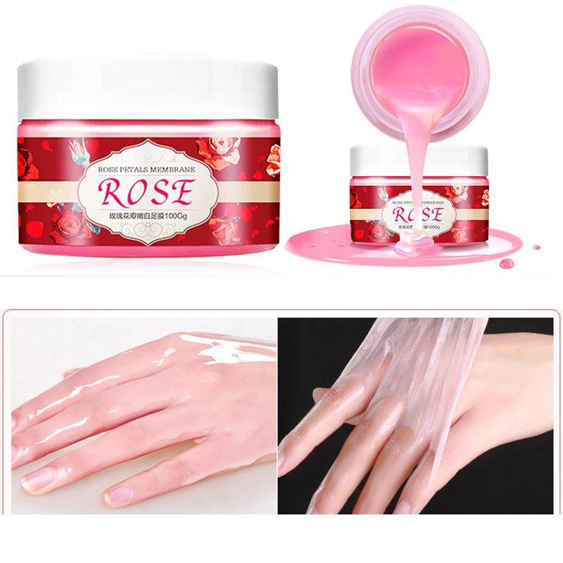 Rosa crema exfoliar Peel-Off mano de cera mano hidratante máscara Anti-envejecimiento blanqueamiento dental para la piel de la mano importa TSLM1