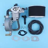 Dual Fuel Carburetor Conversion Kit Air Filter Fuel Line For Honda GX160 5.5HP 168F GX200 170F 6.5HP Water Pump Engines LPG/CNG