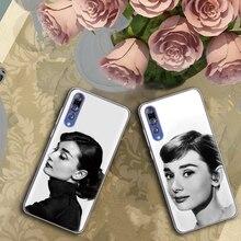 Audrey Hepburn hermosa Señora Coque para Huawei P20 Lite P8 P10 P30 P Smart 2017 2019 Mate 9 10 20 S Pro suave funda de silicona