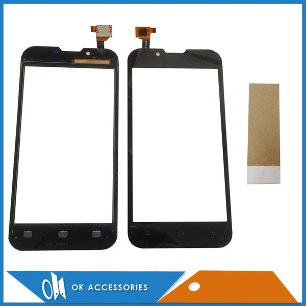 Panel de vidrio de alta calidad de Color negro para Ark Benefit S501 Digitalizador de pantalla táctil con cinta adhesiva 1 pieza por lote