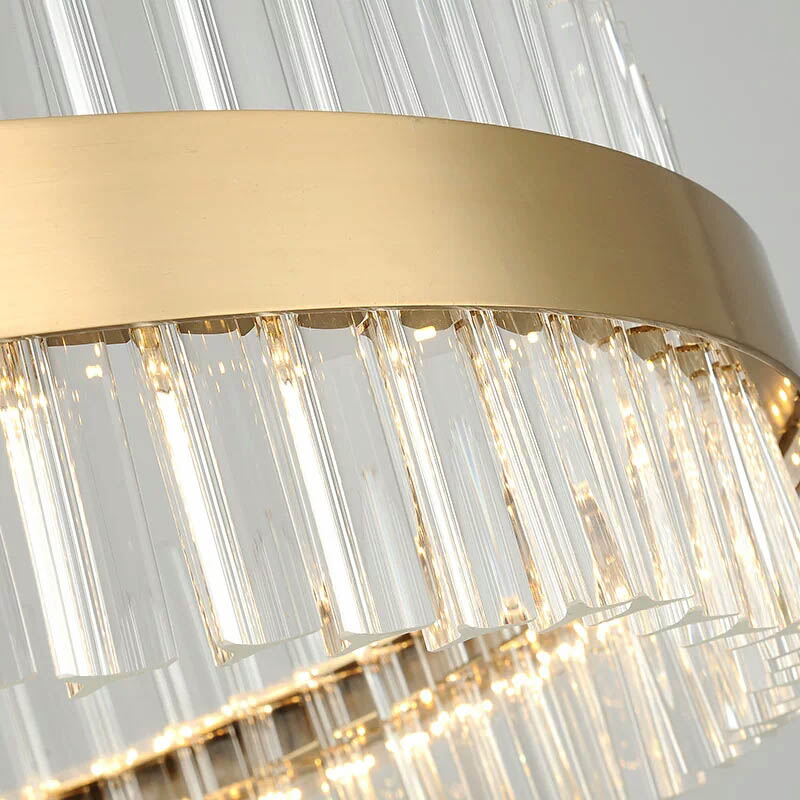 Post-modern simple fashion luxury Round Chandelier living room restaurant bedroom crystal lamp LED Lustre Chandeliers Luminaire  - buy with discount