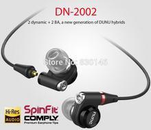 Topsonic Dunu DN-2002 DN2002 Double Moving Coil IEM Balance Armature 2D+2BA HIFI Music Bass Studio DJ Monitor Earphones Earbuds