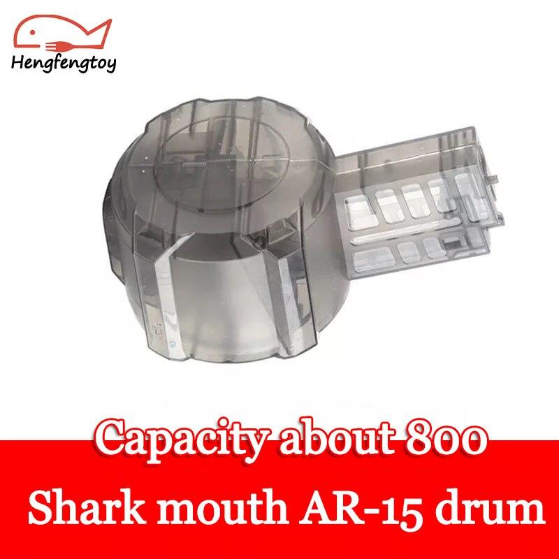 Shark mouth AR-15 cartucho especial M4 batería de pistola de bomba de agua para niños kit de montaje de clip de revista partes II07