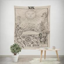 Divination astrología patrón colgante tapiz para la decoración de la pared del dormitorio de la sala de estar