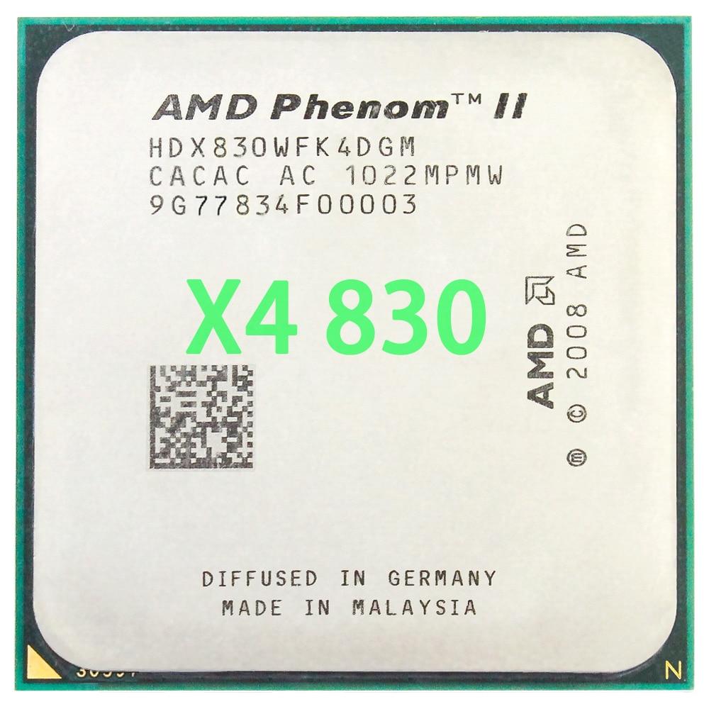 AMD Phenom II X4 830 CPU Processor Quad-Core ( 2.8Ghz/ 4M /95W )Socket AM3 AM2+ 938 pin