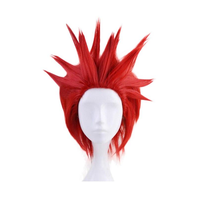 My Hero Academia Eijirou Kirishima Eijiro peluca corta roja disfraz de Cosplay Boku No Hero Academia pelucas de pelo resistente al calor para hombres